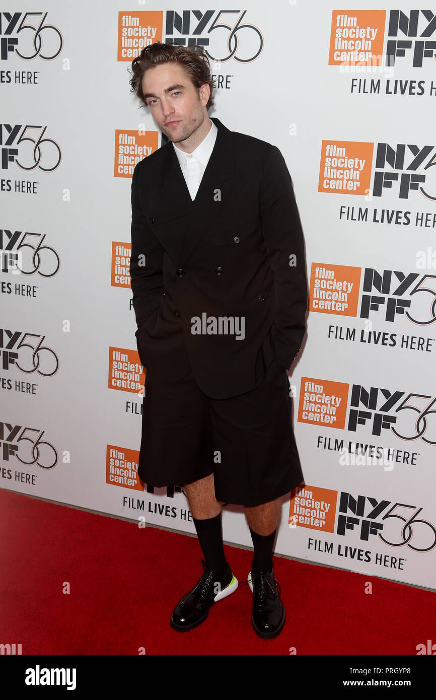 "New York, Vereinigte Staaten. Okt, 2018 02. NEW YORK - OKT 2: Schauspieler Robert Pattinson besucht die ""High Life"" Premiere in der Alice Tully Hall im Oktober 2, 2018 in New York City. Credit: Foto Access/Alamy leben Nachrichten Stockbild"