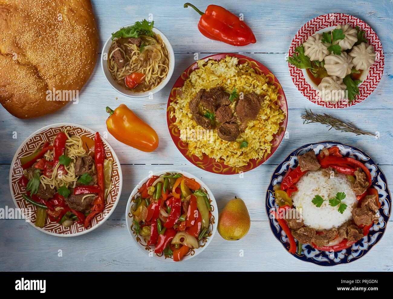 Uigurische Küche, Asien traditionellen verschiedene Gerichte