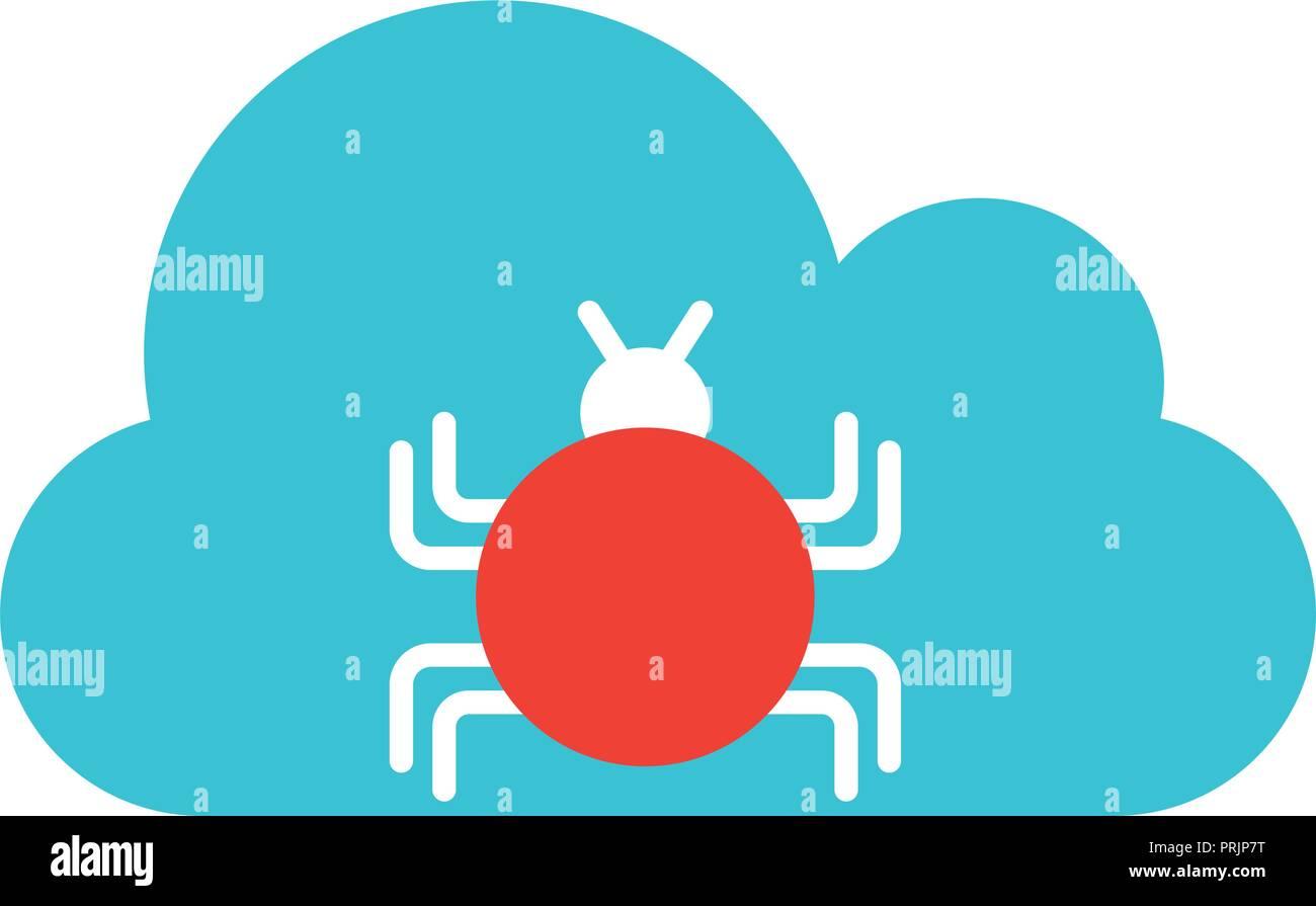 Cloud Computing virus Malware große Datensicherheit Stockbild