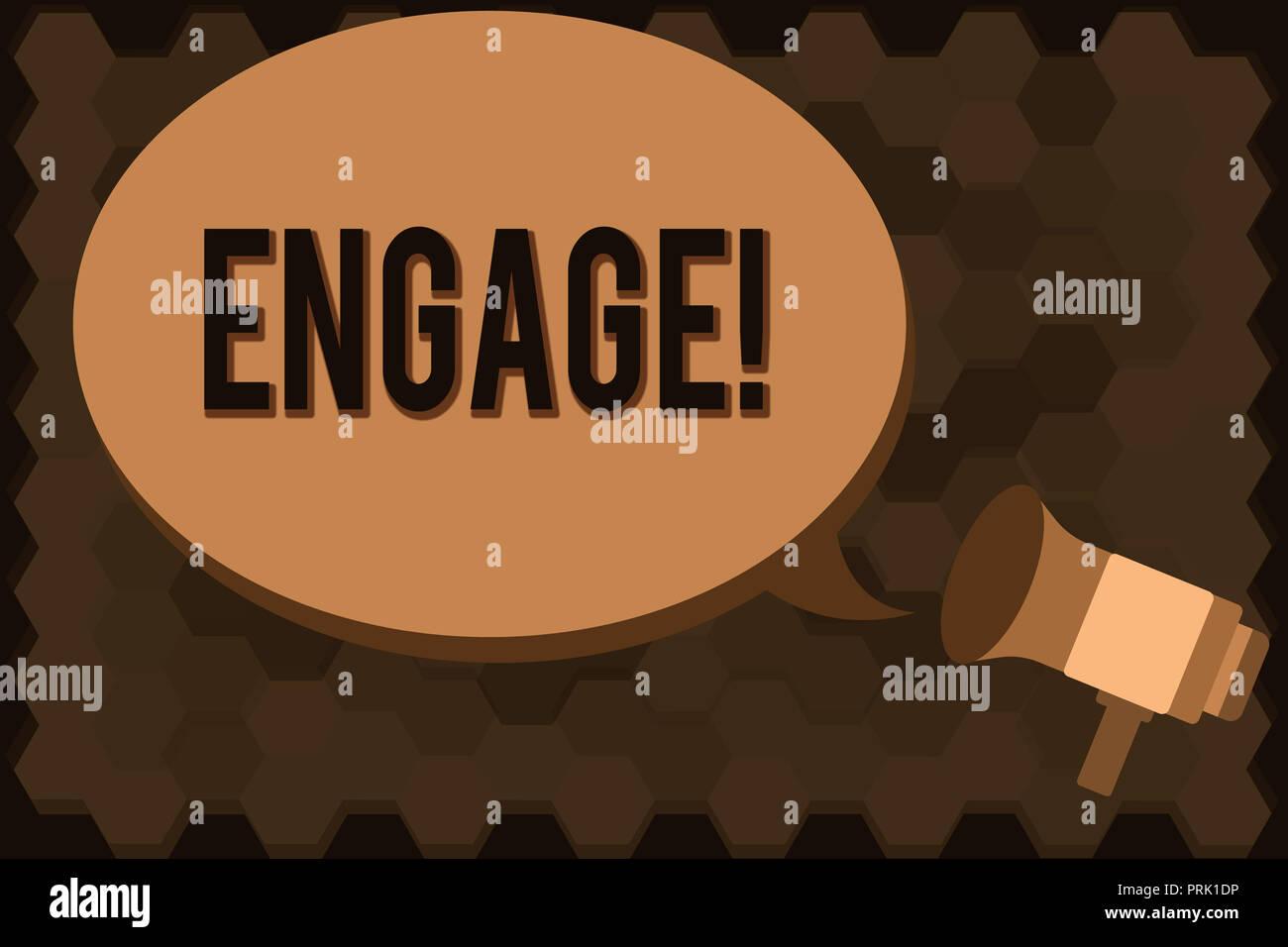 Handschrift Text einrücken. Konzept Bedeutung beteiligen beteiligt werden Heiratsantrag jemanden einstellen. Stockbild