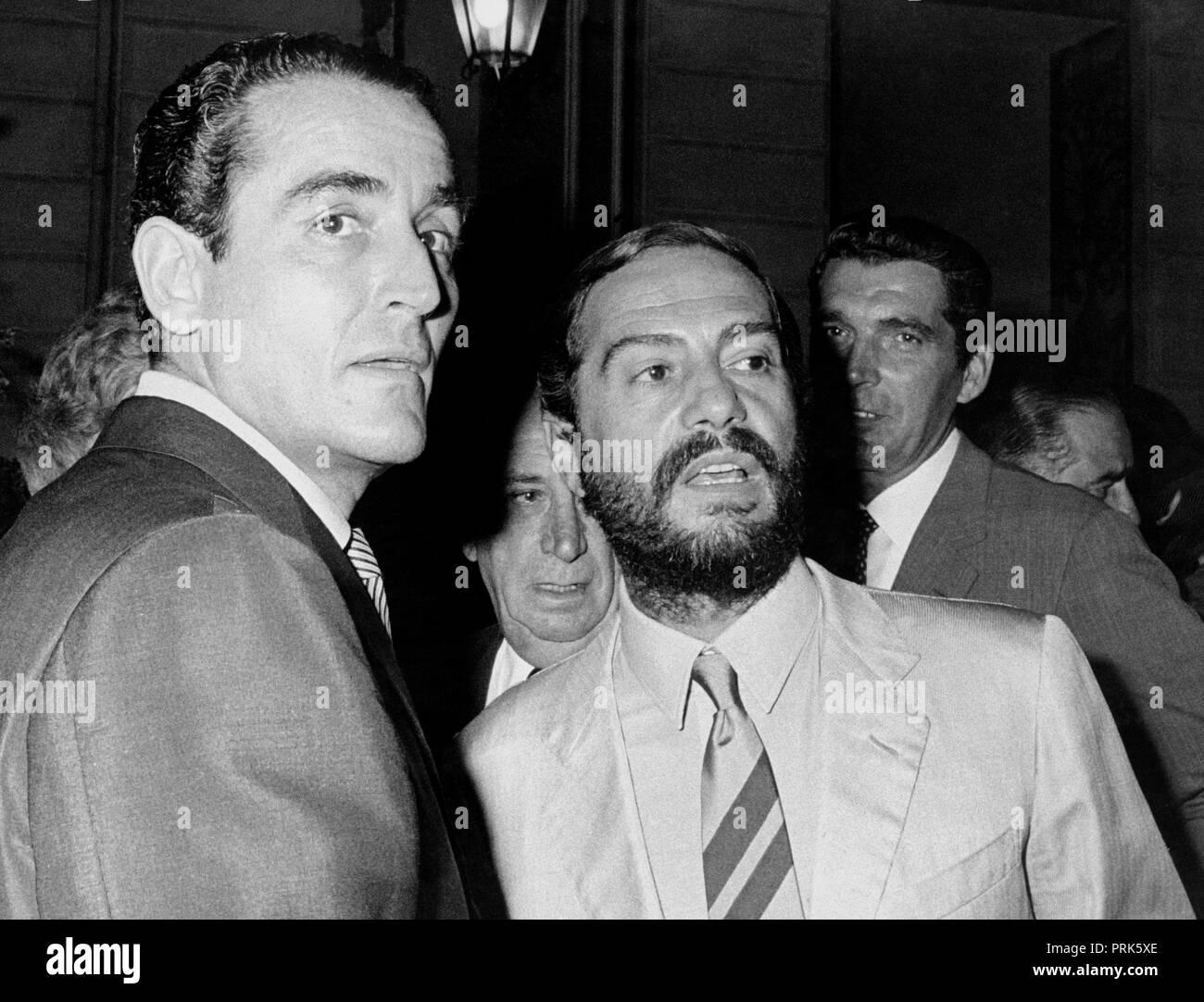 Vittorio Gassman Nino Manfredi 1968 Stockfotografie Alamy