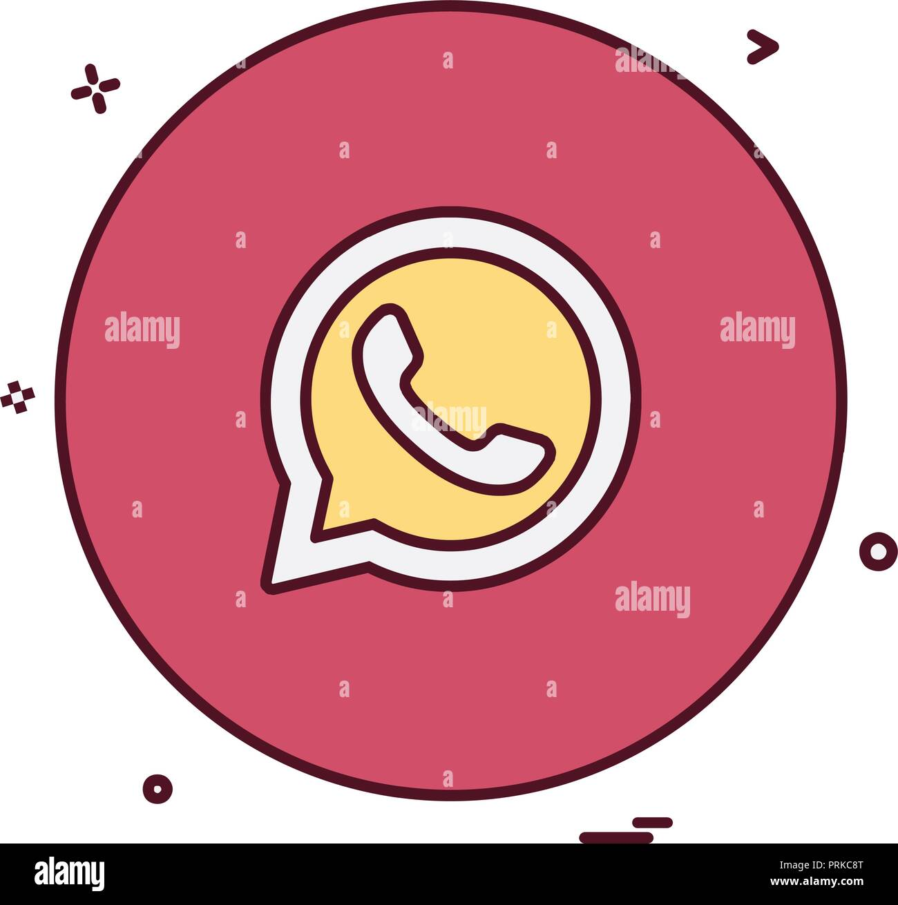 Whatsapp Icon Design Vektor Stock Vektorgrafik Alamy