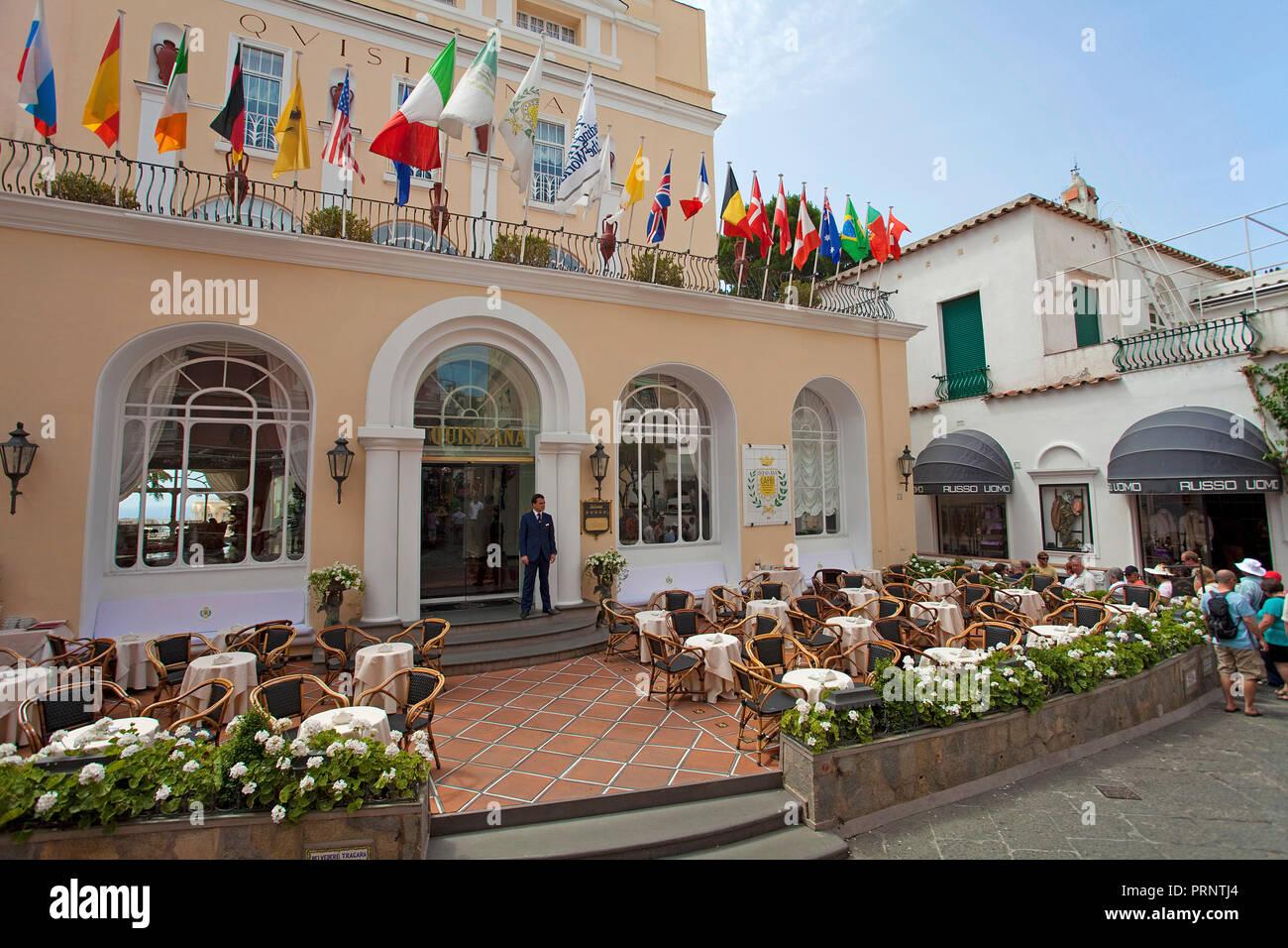 Eingang Des Luxushotels Grand Hotel Quisisana Capri Golf Von