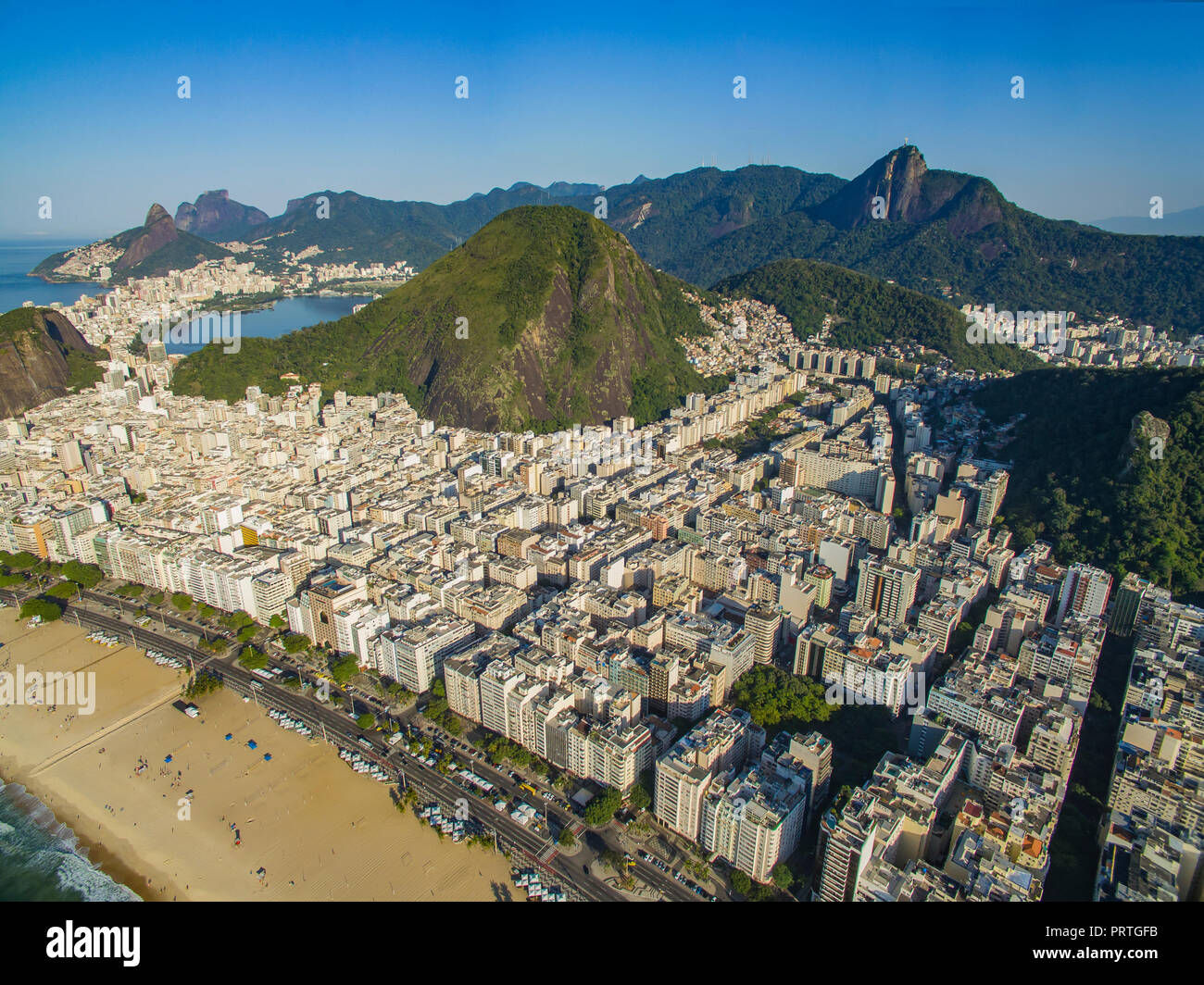 Copacabana Strand Im Stadtteil Copacabana Rio De Janeiro Brasilien
