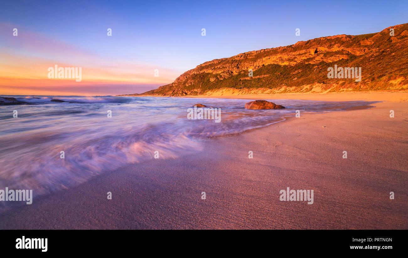 Conto ist Sonnenuntergang Stockbild