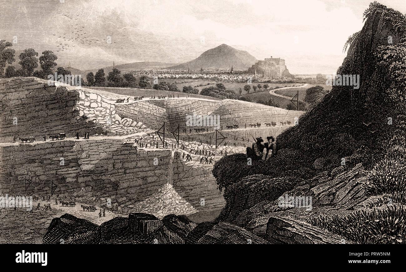 Attrayant Die Steinbrüche, Craigleith, In Der Nähe Von Edinburgh, Schottland, 19.  Jahrhundert, Von Modernen Athen Von Th. H. Hirte