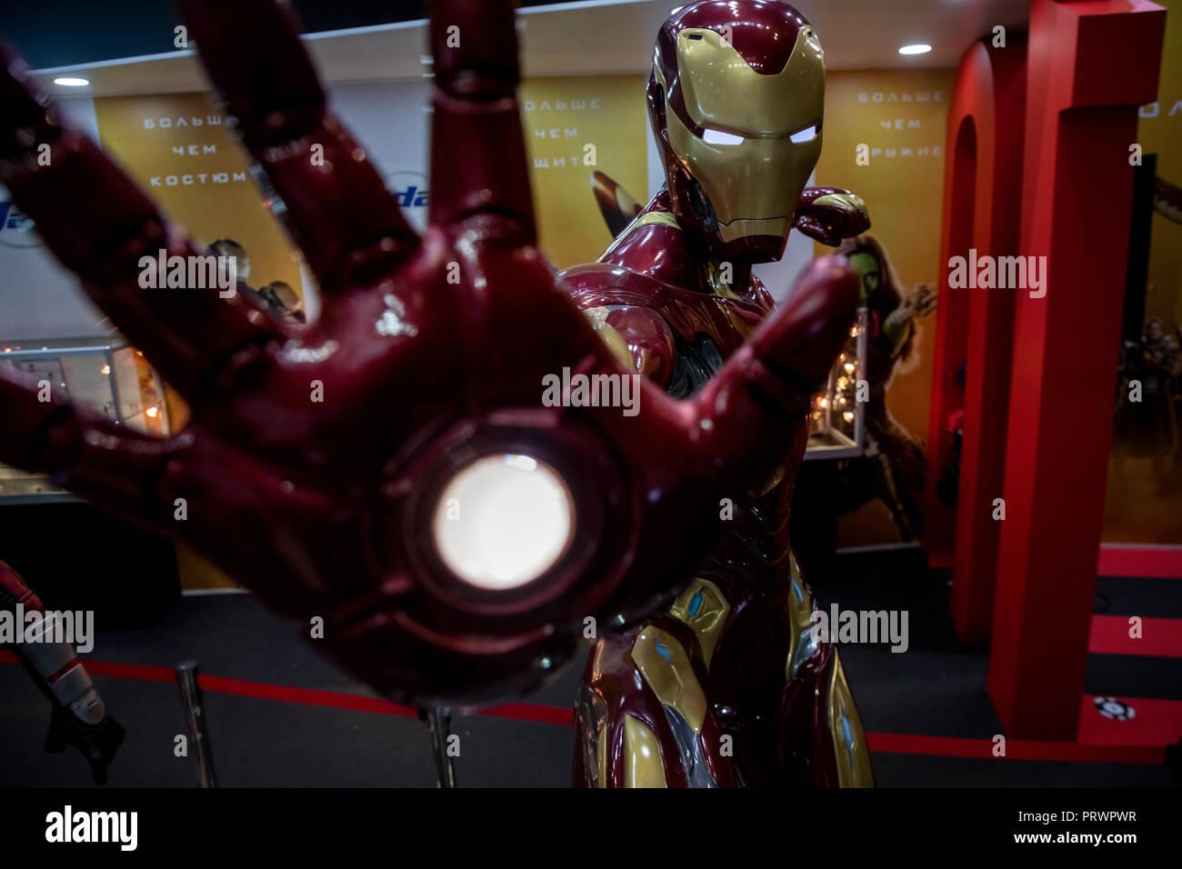 Moskau, Russland. 04 Oktober, 2018 die Teilnehmer der Comic Con Russland 2018 und die 2018 Igromir Computer- und Videospiele Ausstellungen im Crocus Expo International Exhibition Center in Moskau, Russland Credit: Nikolay Winokurow/Alamy leben Nachrichten Stockbild