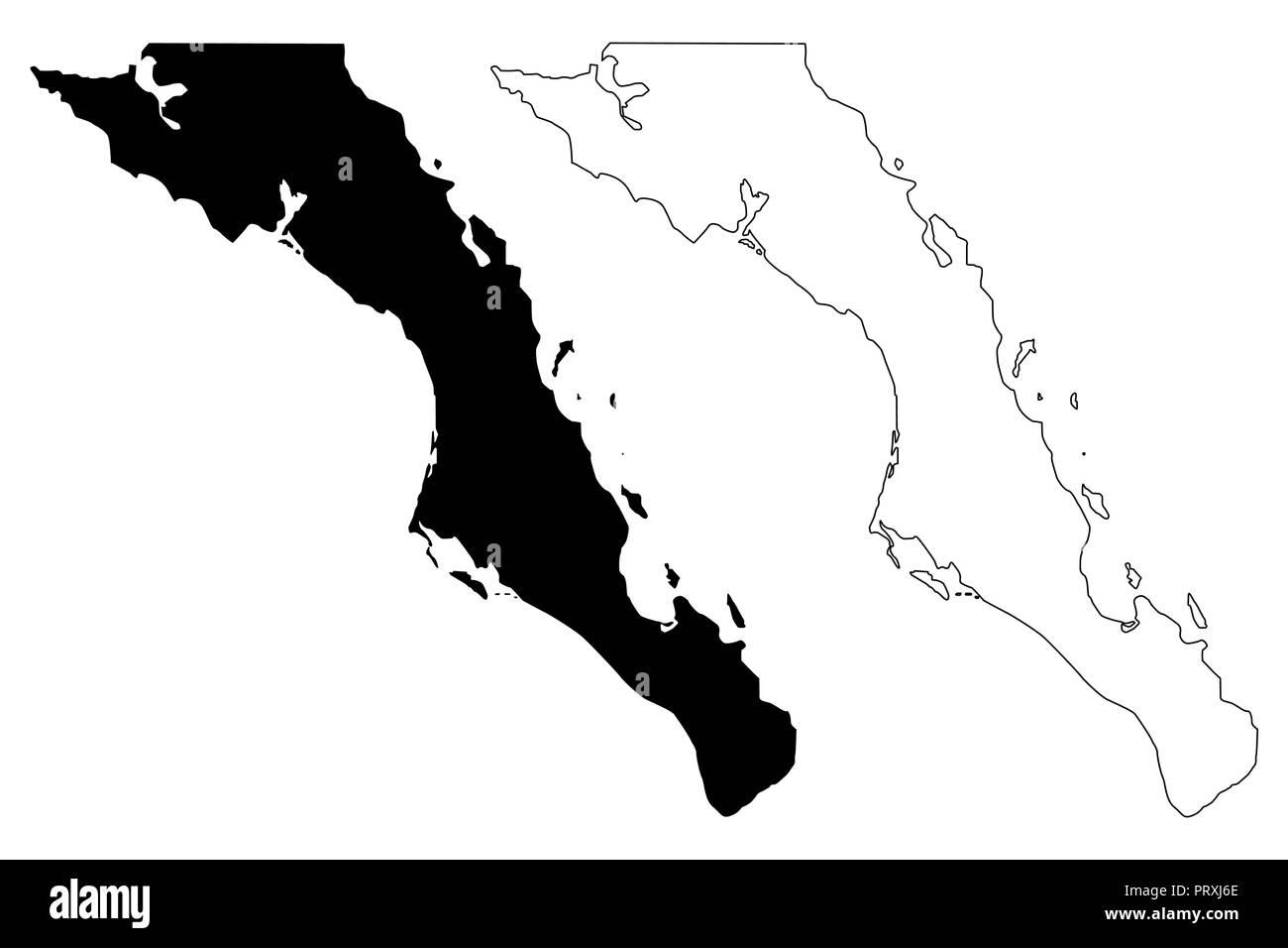 Mexiko Staaten Karte.Baja California Sur Vereinigten Mexikanischen Staaten