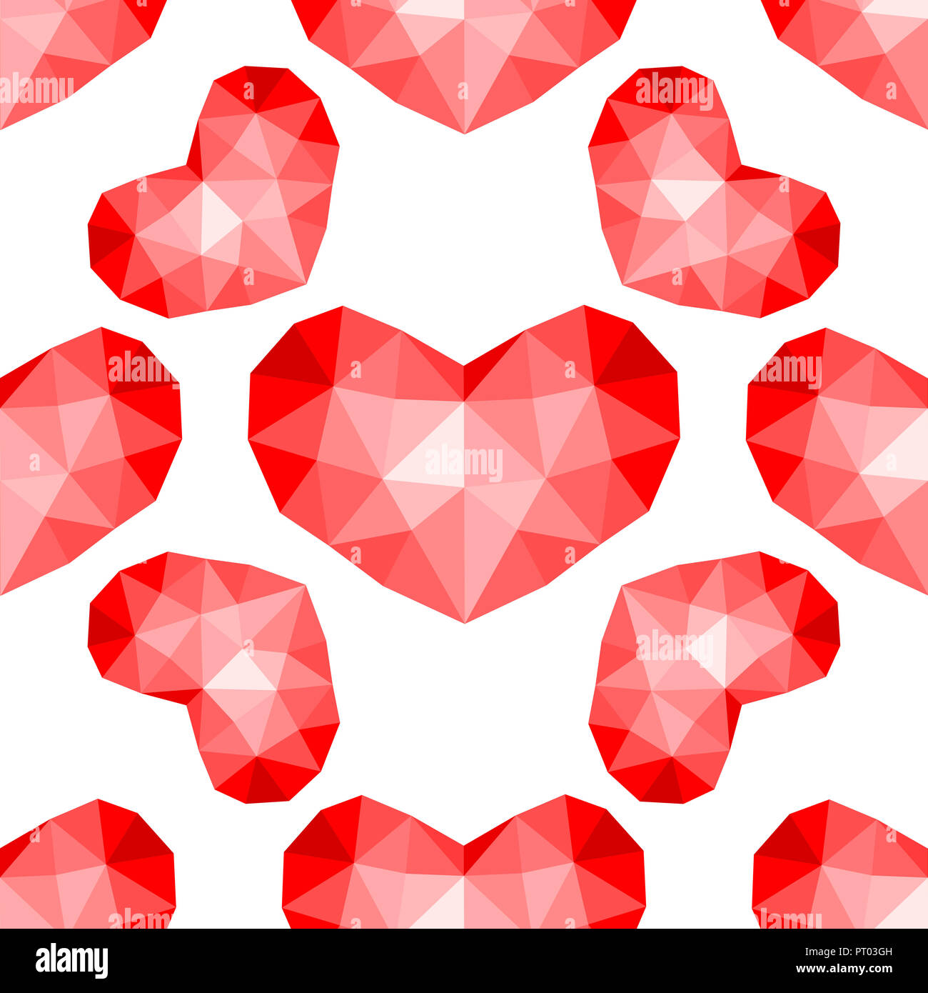 Nahtlose Muster. Abstrakt wiederholende Textur mit chaotischen Herzen. Stilvolle hipster Textur. Stockbild