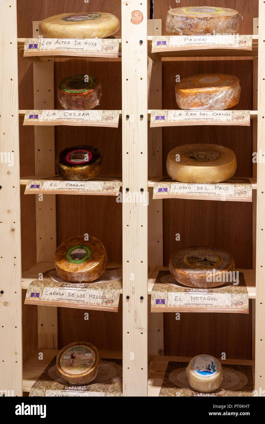 Kanaren Käse. Kanarische Inseln, Spanien Stockbild
