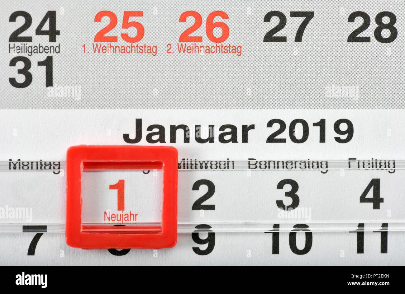 Calendar For 2018 Stockfotos & Calendar For 2018 Bilder - Alamy
