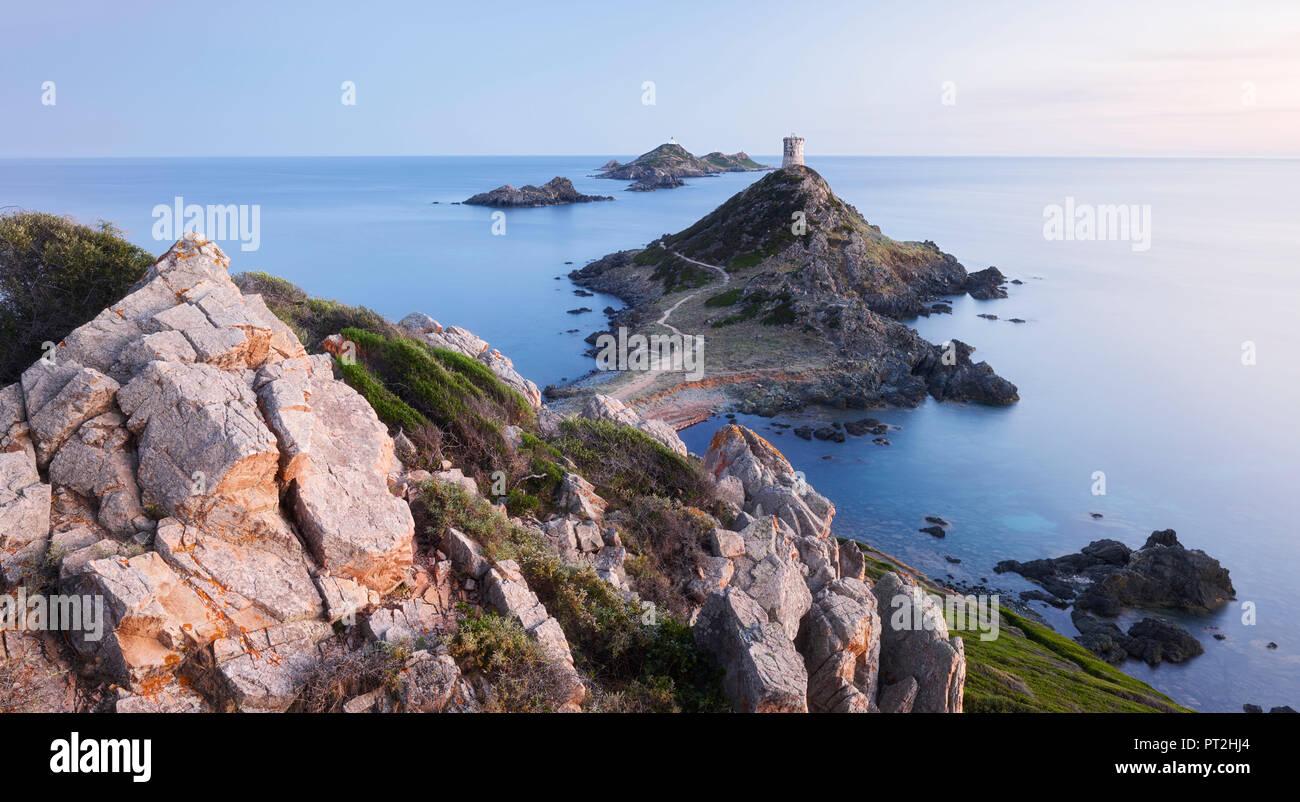 Tour de la Parata, Iles Sanguinaires, Ajaccio, Korsika, Frankreich Stockbild
