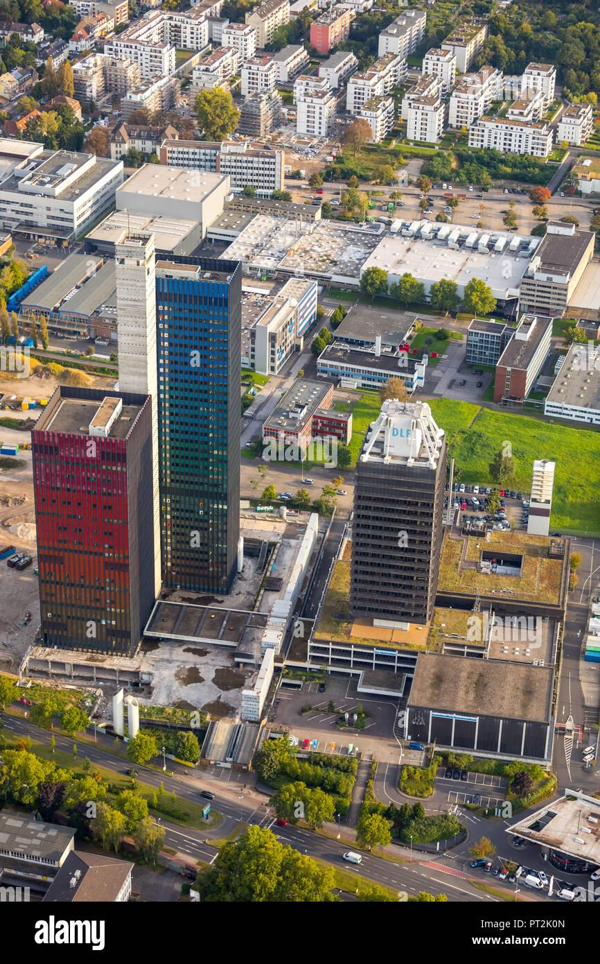 Hohes DLF Deutschlandfunk, Radio Station, Redaktion, Deutschlandradio, Radeberggürtel, Köln, Rheinland, Nordrhein-Westfalen, Deutschland Stockbild