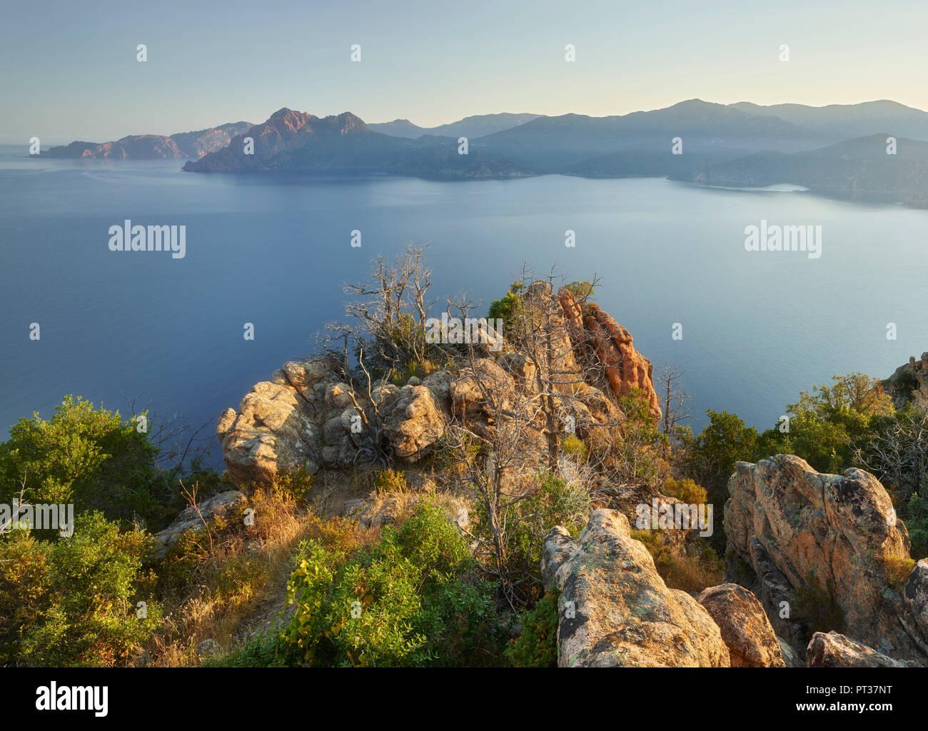 Calanques de Piana, Golfe de Porto, Korsika, Frankreich Stockbild