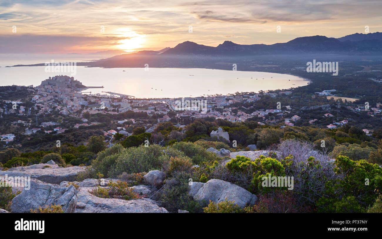 Calvi, Korsika, Frankreich Stockbild