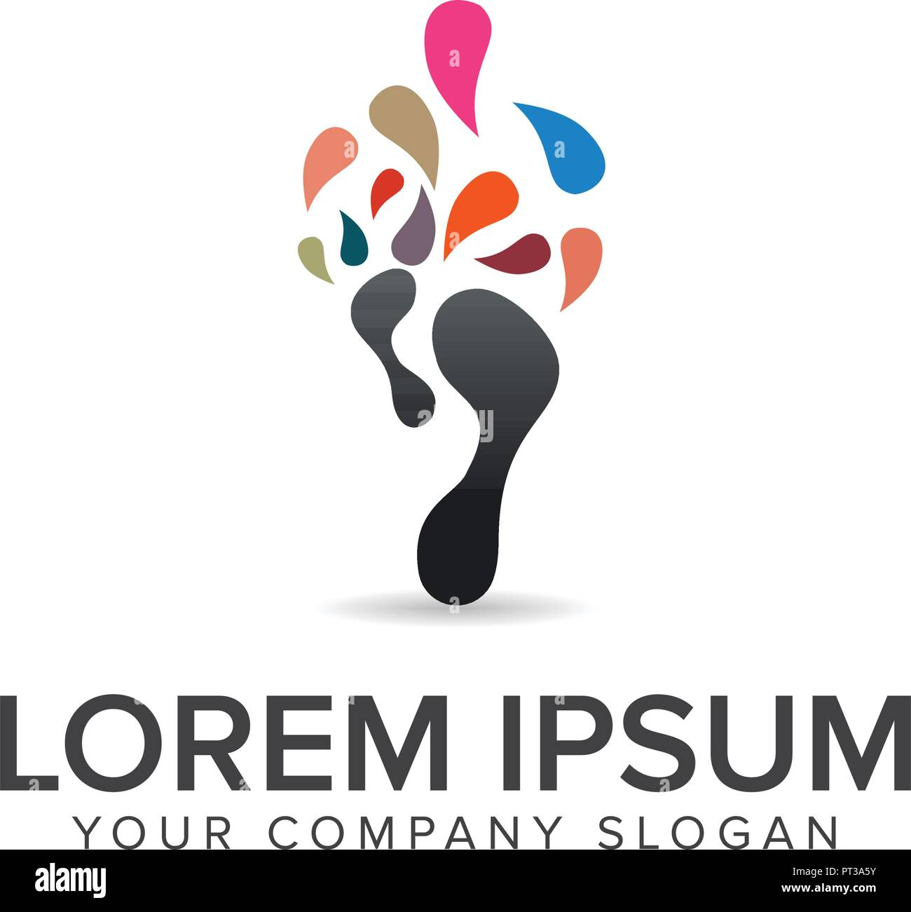Bein Media Logo Design Konzept Vorlage Stock Vektor
