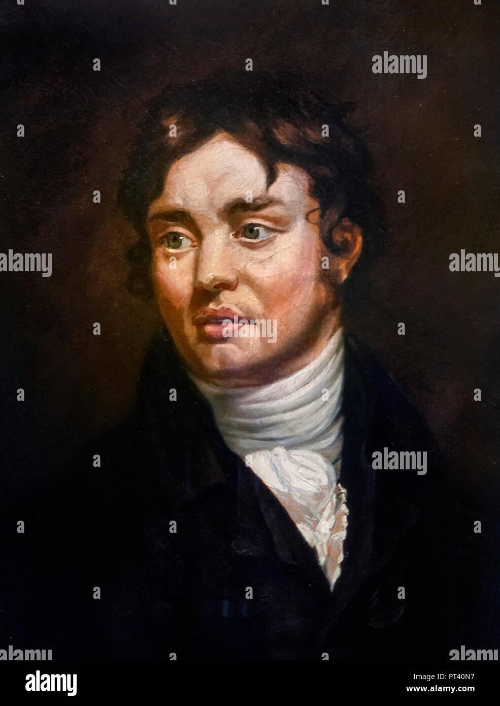 Samuel Taylor Coleridge (1772-1834) Porträt als junger Mann nach James  Northcote, Öl auf canves, 1804.