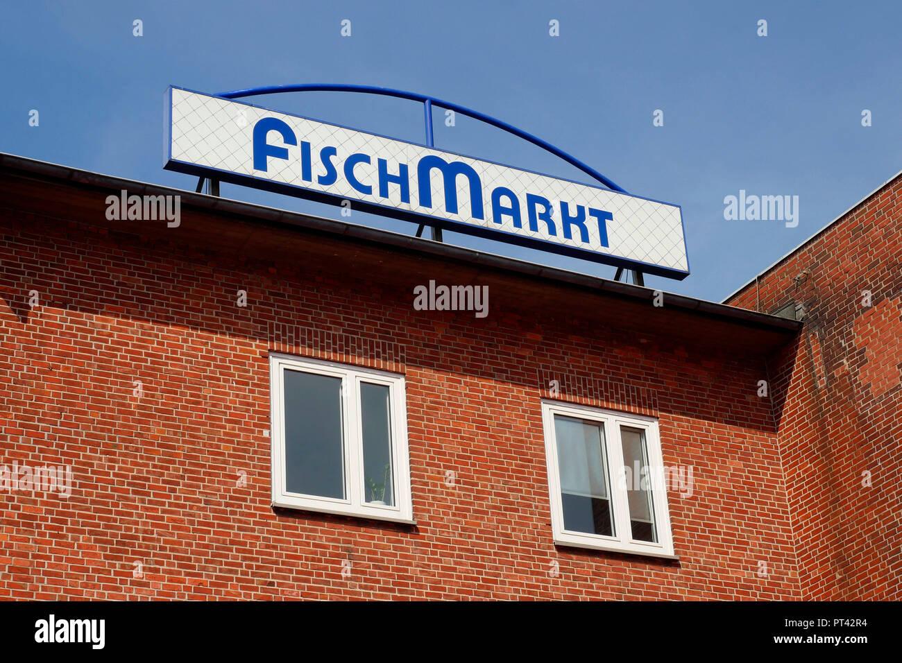 Schild Fischmarkt An Der Van Der Smissen Straße Altona Hamburg