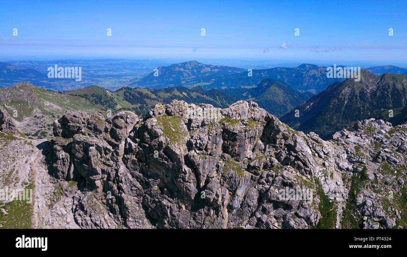Klettersteig Nebelhorn : Hindelanger klettersteig auf das nebelhorn bei oberstdorf allgäu