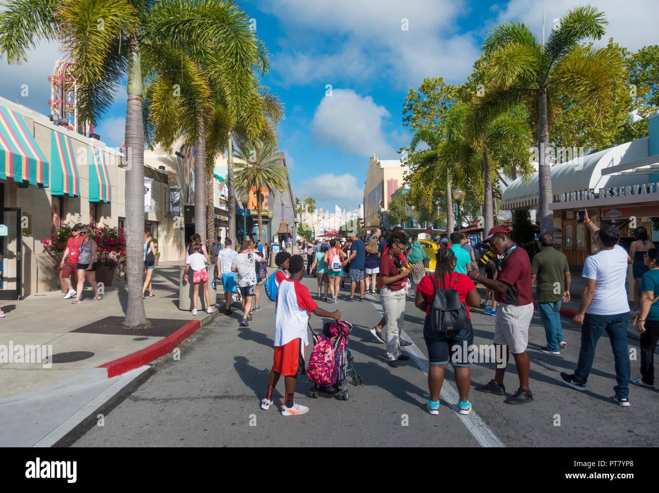 Die Produktion zentralen Bereich von Universal Studios Theme Park in Orlando, Florida. Stockbild