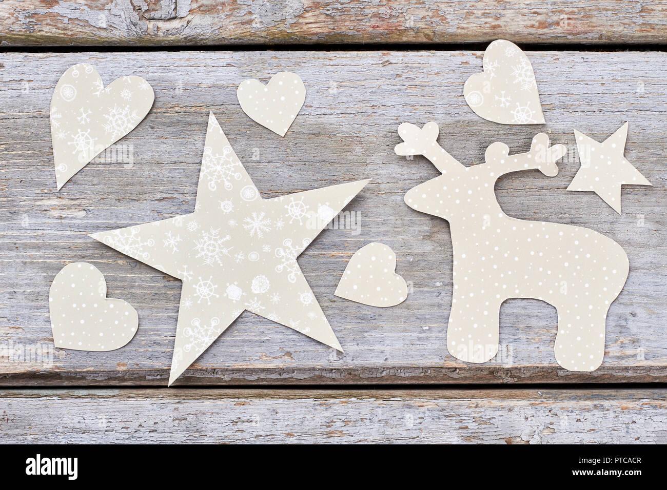 Bastelpapier Weihnachten.Childrens Handmade Weihnachten Papier Geschnitzten Ornamenten