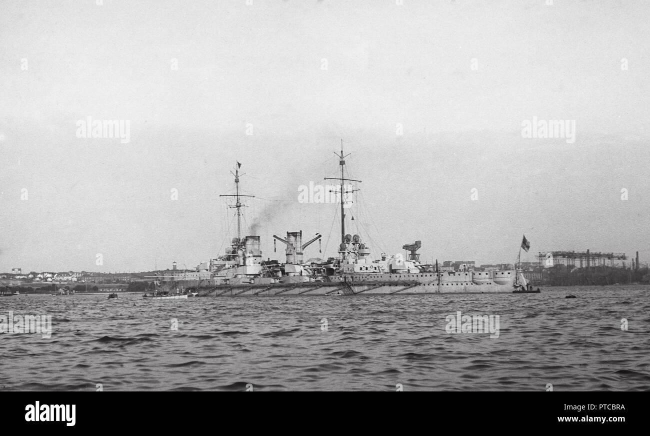 Kaiserlichen Marine grosser Kreuzer SMS BLÜCHER - Deutsche Marine Große/Schwere Kreuzer S.M.S. BLUECHER Stockbild