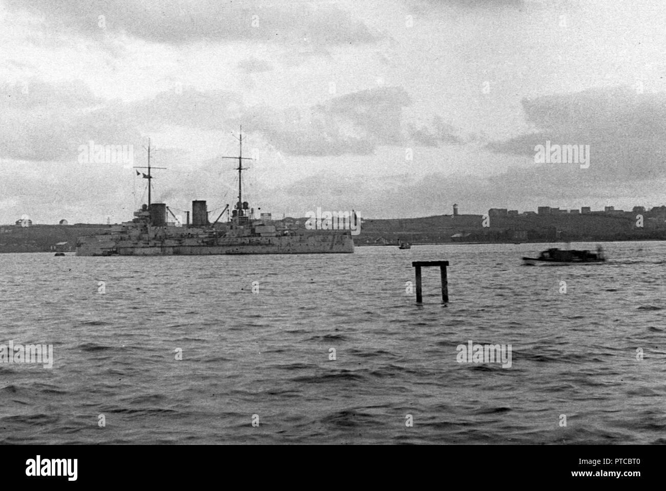 Kaiserlichen Marine grosser Kreuzer SMS VON DER TANN - Deutsche Marine Große/Schwere Kreuzer S.M.S. VON DER TANN Stockbild