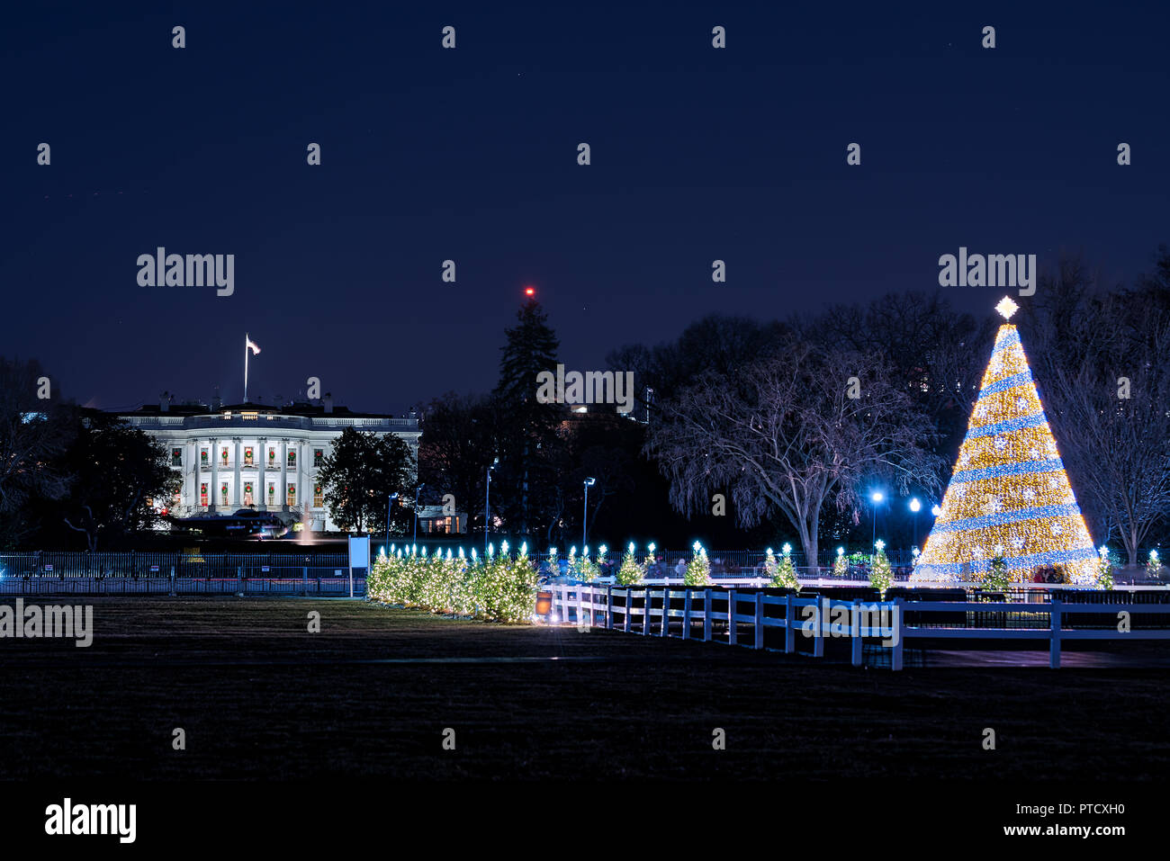 Washington DC, USA - 28. Dezember 2017: das Weiße Haus mit ...
