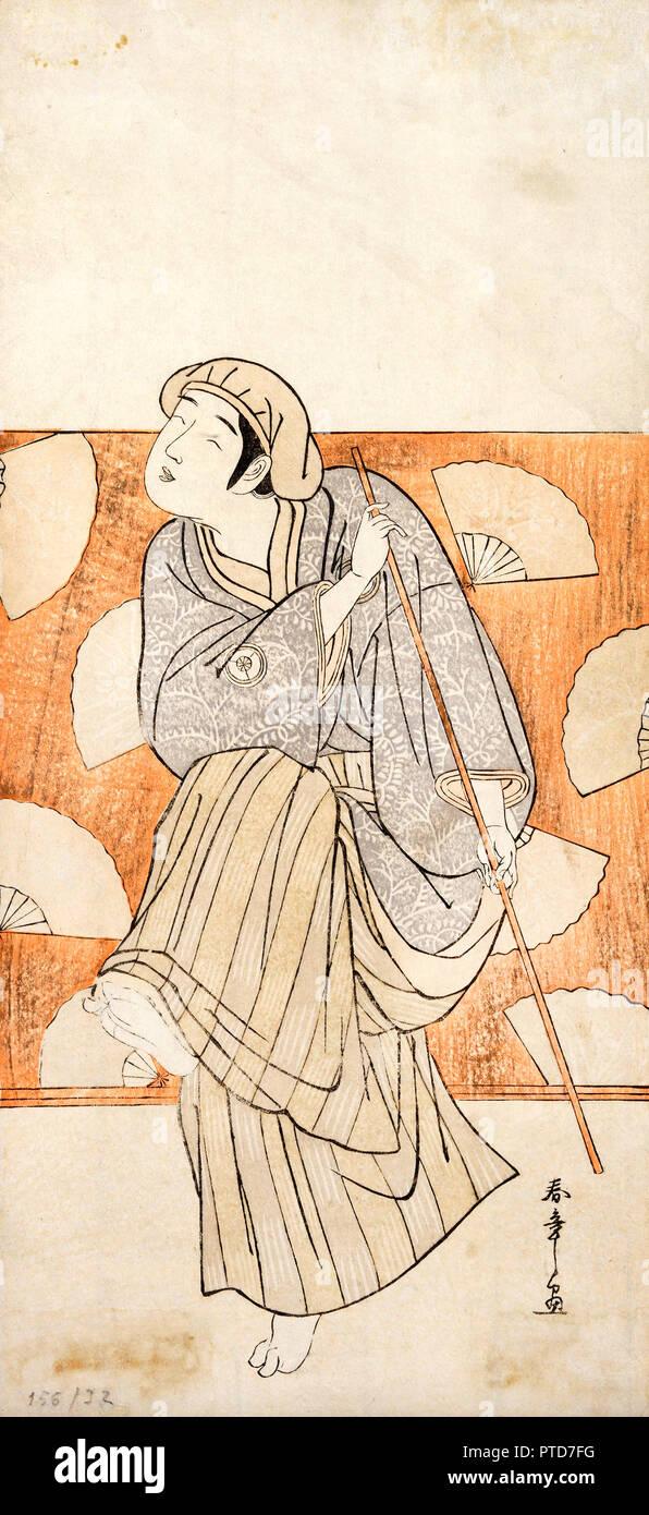 Shunsho Katsukawa, Untitled, 18. Jahrhundert, Holzschnitt auf Papier, Museum der Schönen Künste von Bilbao, Bilbao, Spanien. Stockbild