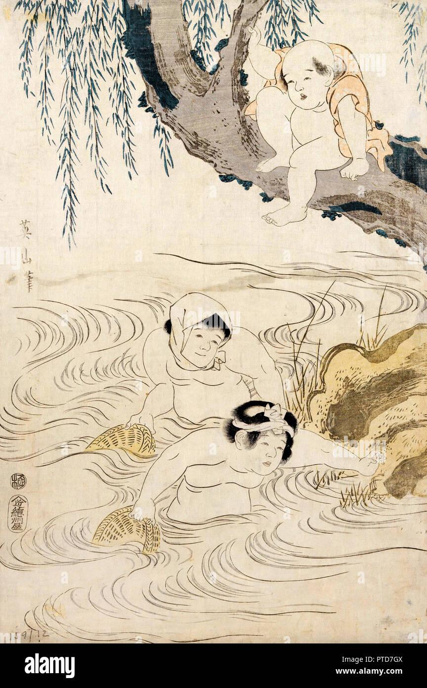 Kikukawa Eizan, Untitled, 19. Jahrhundert, Holzschnitt auf Papier, Museum der Schönen Künste von Bilbao, Bilbao, Spanien. Stockbild