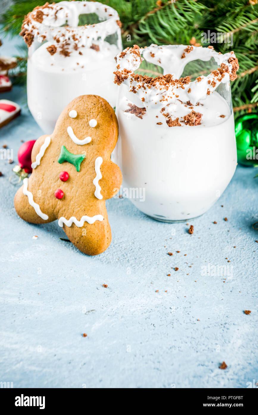 Ideen für Weihnachten trinken, Lebkuchen Martini kalten Cocktail ...