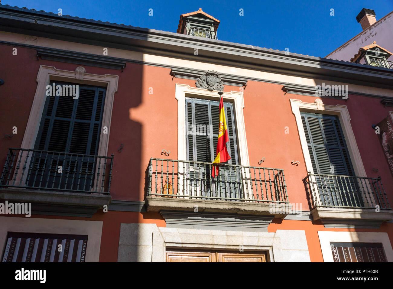 MADRID, Spanien - 24. JANUAR 2018: Morgen Ansicht von Museum der Romantik in der Stadt Madrid, Spanien Stockbild