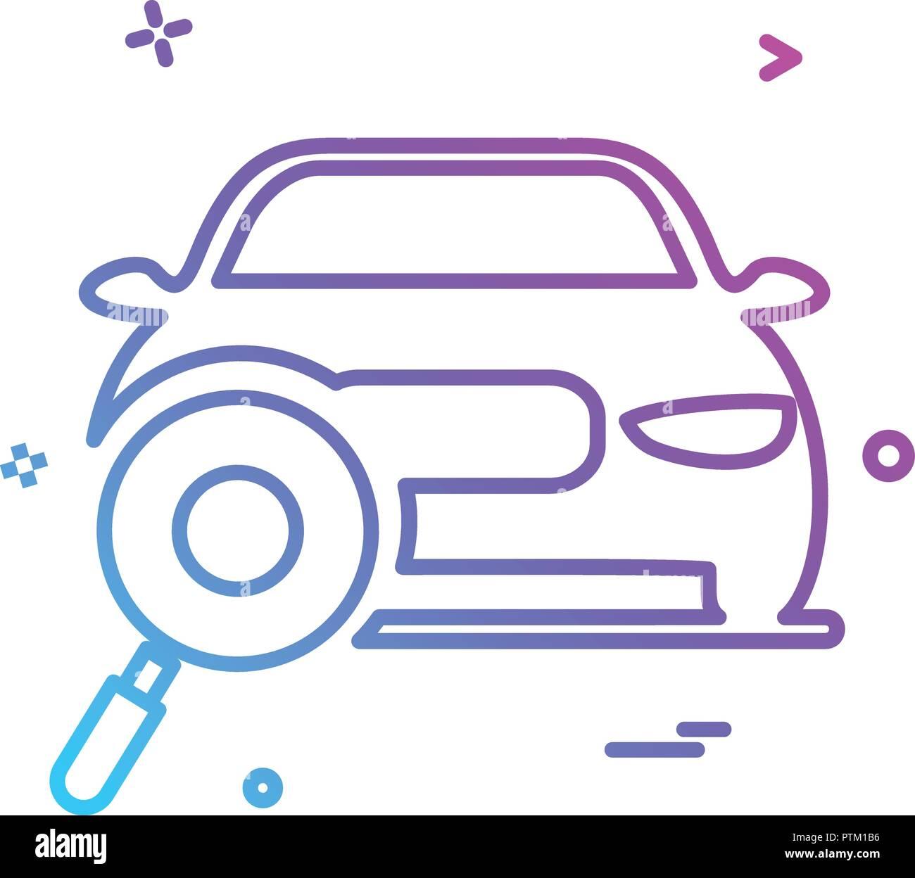 Auto Workshop Suche Auto Symbol Vektor Design Vektor Abbildung