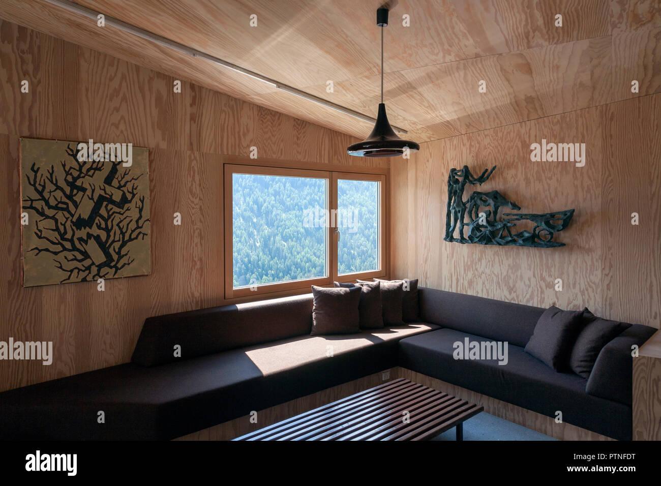 Minimalistischer Stil Wohnzimmer In Einem Haus In Den