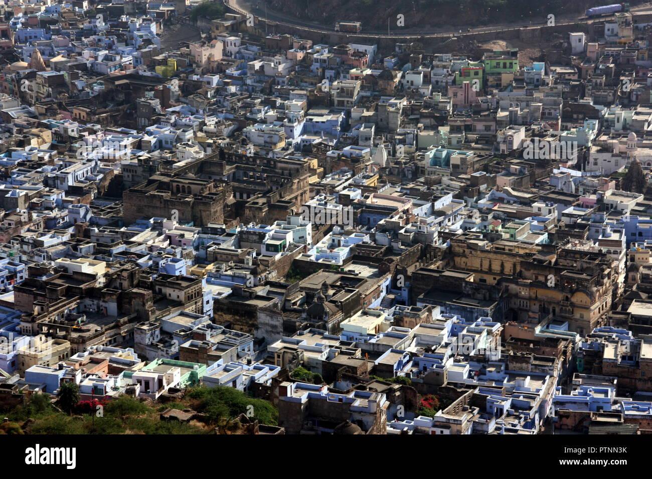 Stadtbild von Jodhpur, die auch die blaue Stadt in Rajastan, Indien Stockbild
