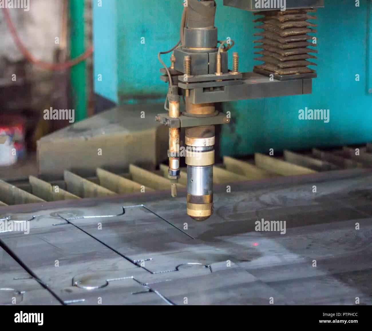 Maschine Fur Den Modernen Plasma Laser Schneiden Von Metall