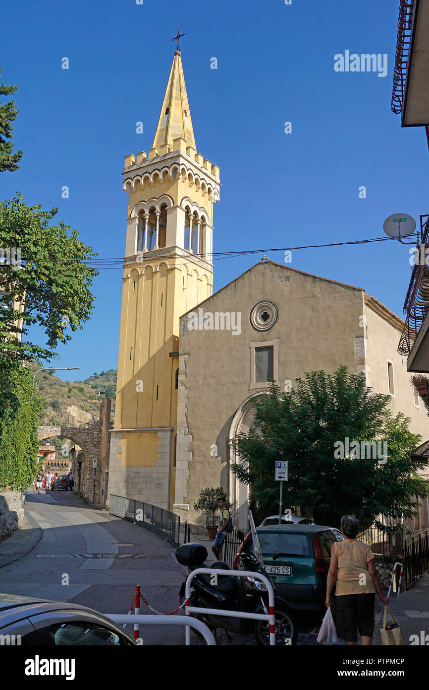 Chiesa dei Cappuccini, Kirche in Taormina, Sizilien, Italien Stockbild