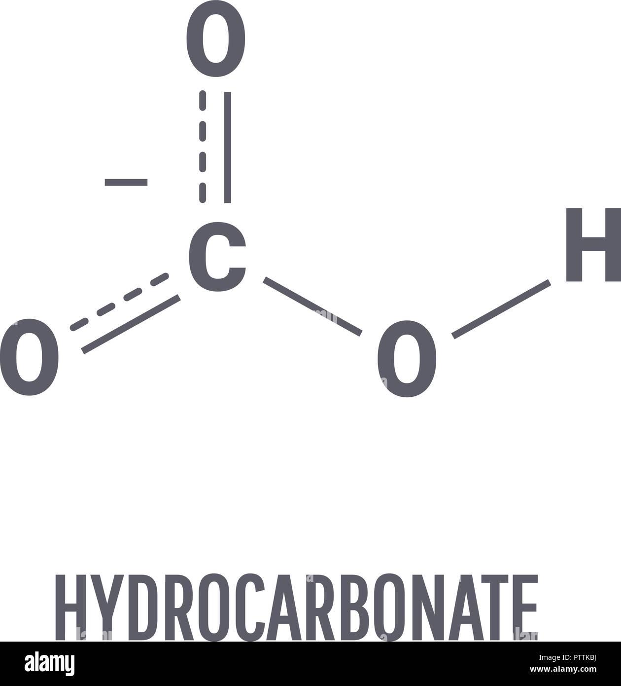 Hydrocarbonat Molekül Chemische Verbindung Mit Der