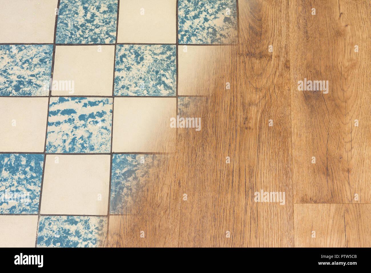 Moderne Fußboden Vinyl ~ Retro keramikfliesen und moderne vinyl boden gehäuse