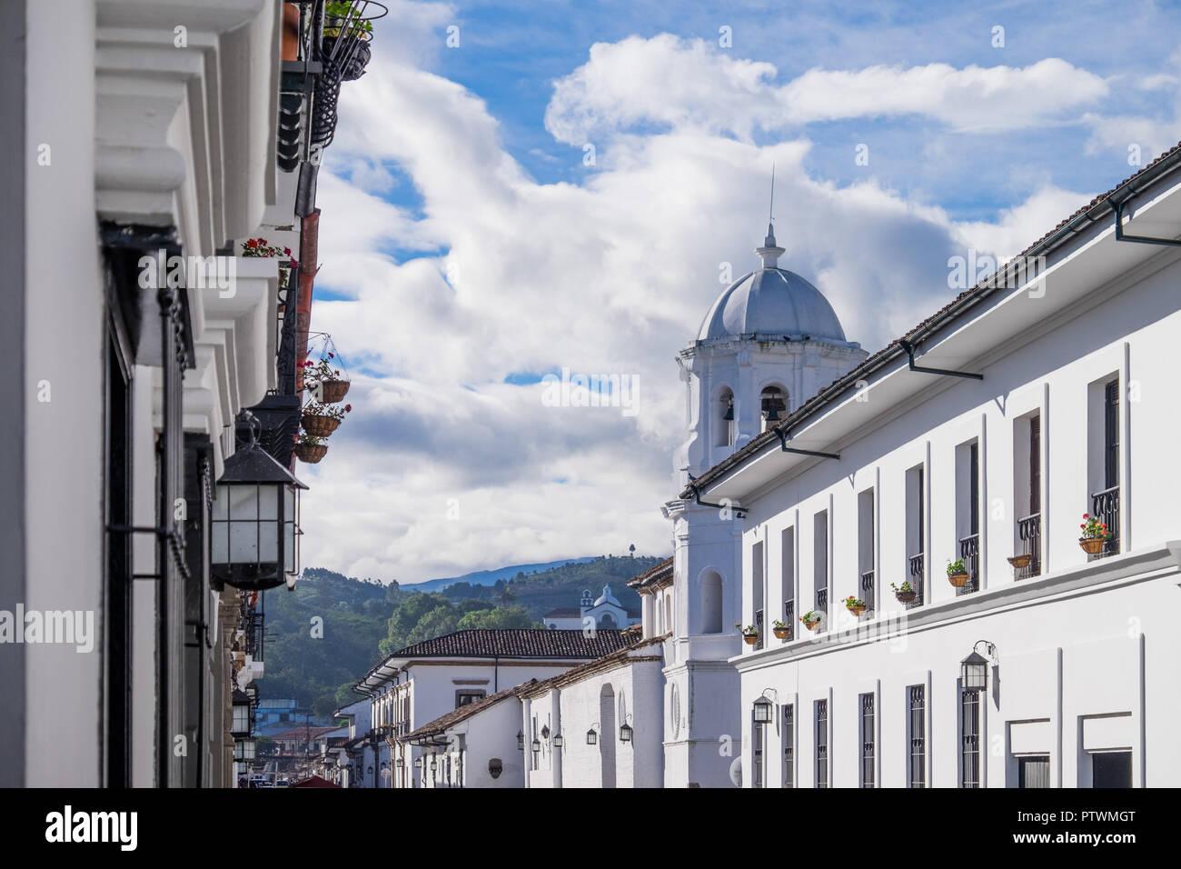 Weiße Wände von Popayan - Kolumbien Stockbild