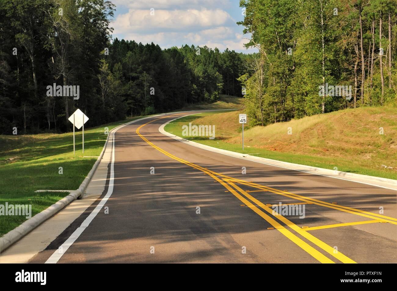 Mississippi Country Road, führen mich Home Stockbild