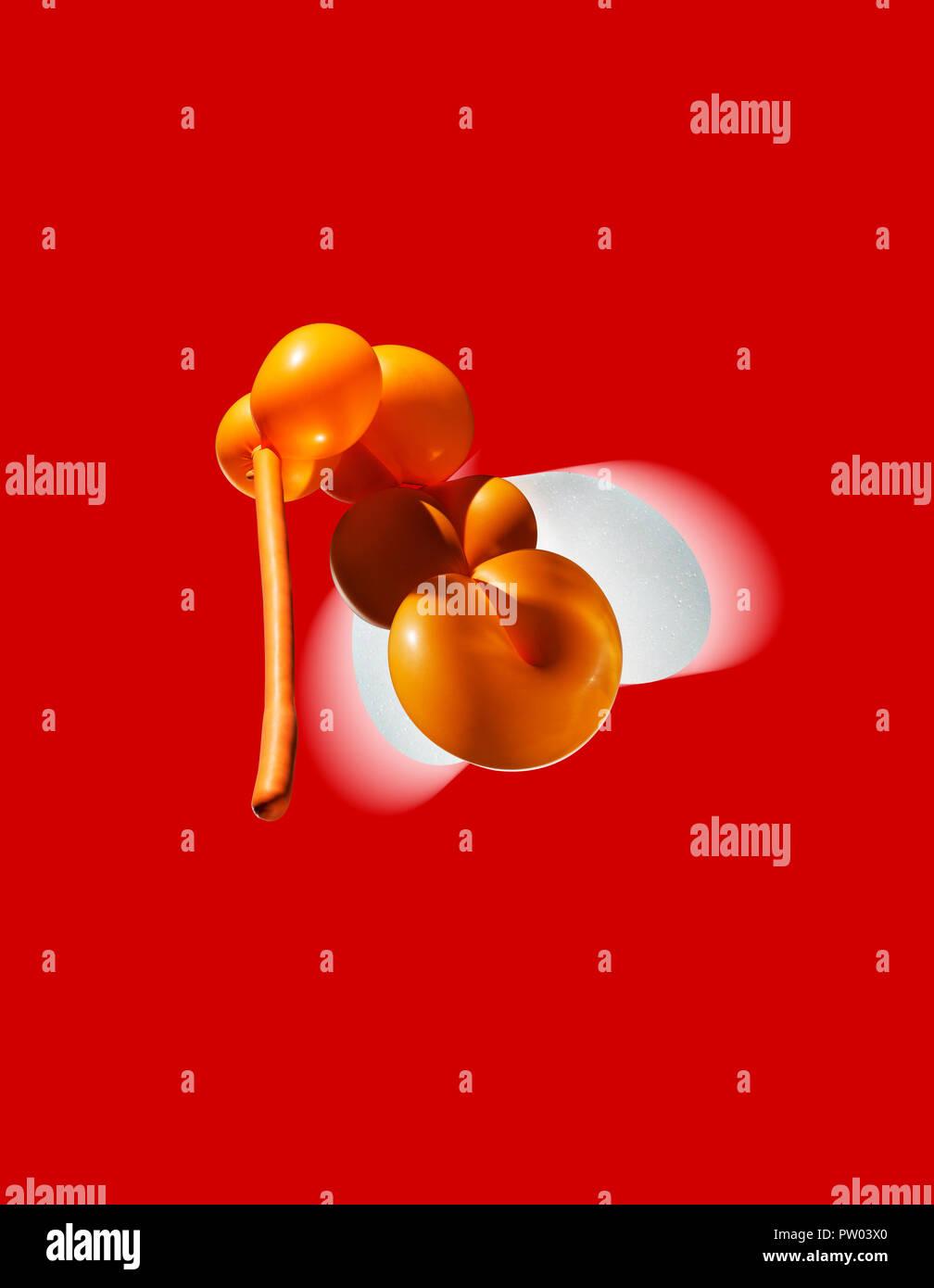 Konzept Moskito in einem Ballon Form, Zika Virus, Infektion Stockbild