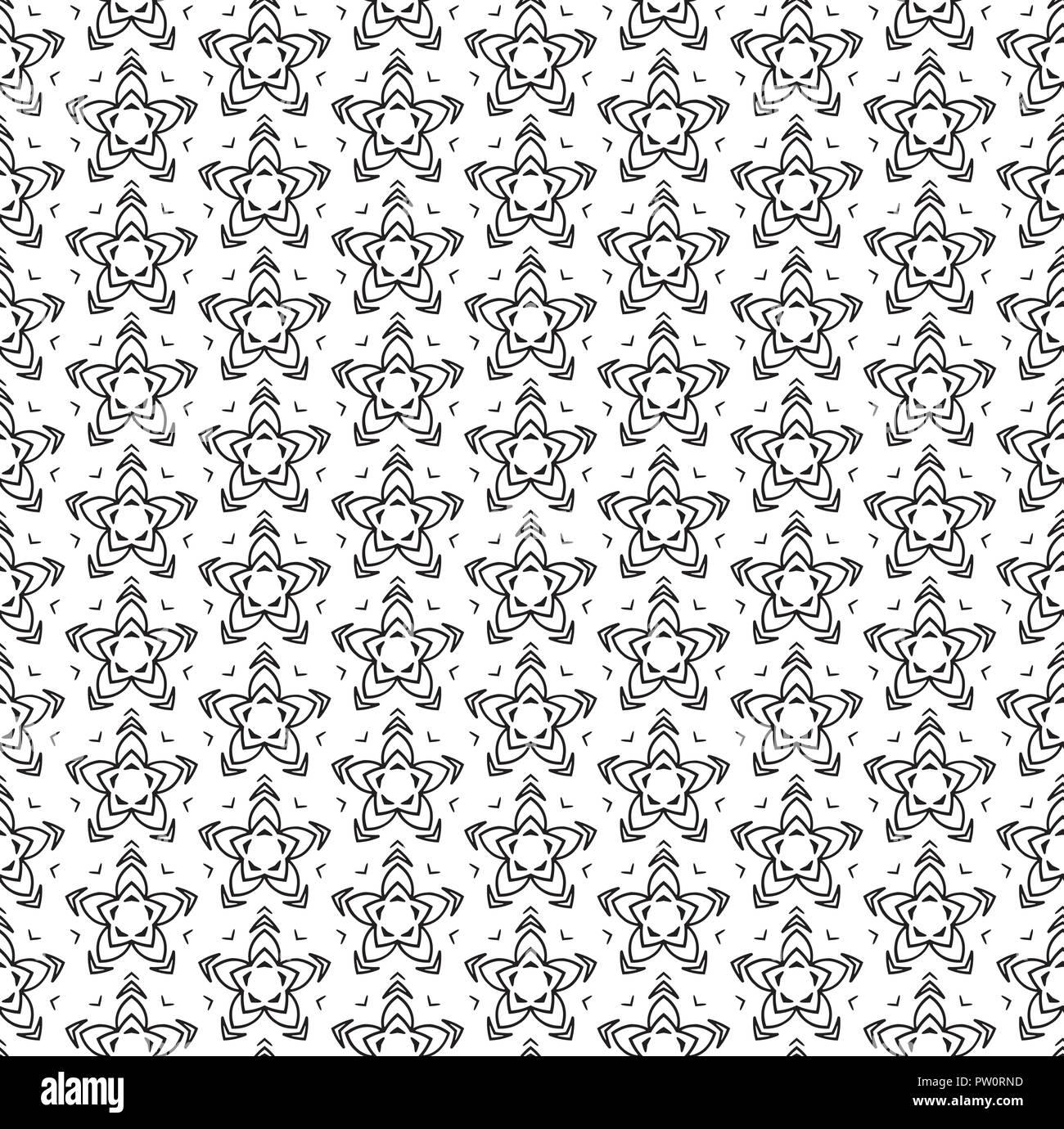 Subtile Geometrisches Ornament Nahtlose Muster Vektor Einfarbige