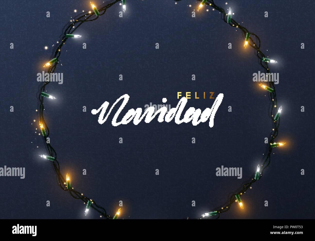 Weihnachtsbeleuchtung Kranz.Glühende Weihnachtsbeleuchtung Kranz Für Weihnachten