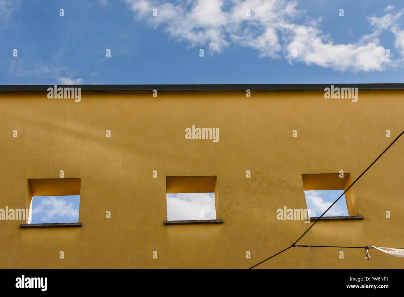 Blauer Himmel. Abstrakt Stockbild