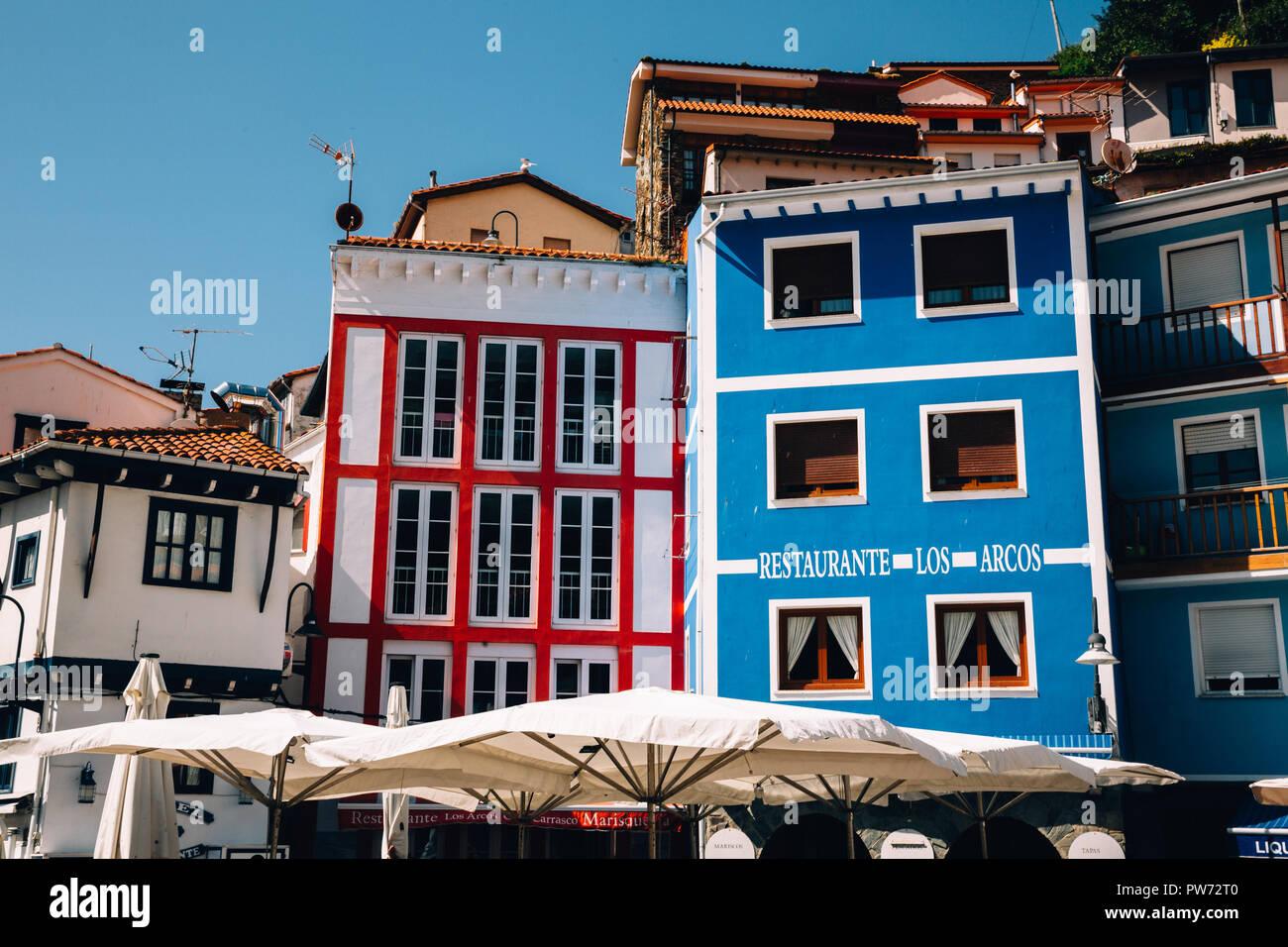 Cudillero, Asturien, Spanien, 2018 Stockbild
