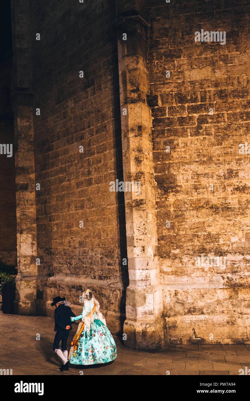 Las Falles Frühlingsfest, Valencia, Spanien, 2018 der UNESCO zum Immateriellen Kulturerbe Stockbild