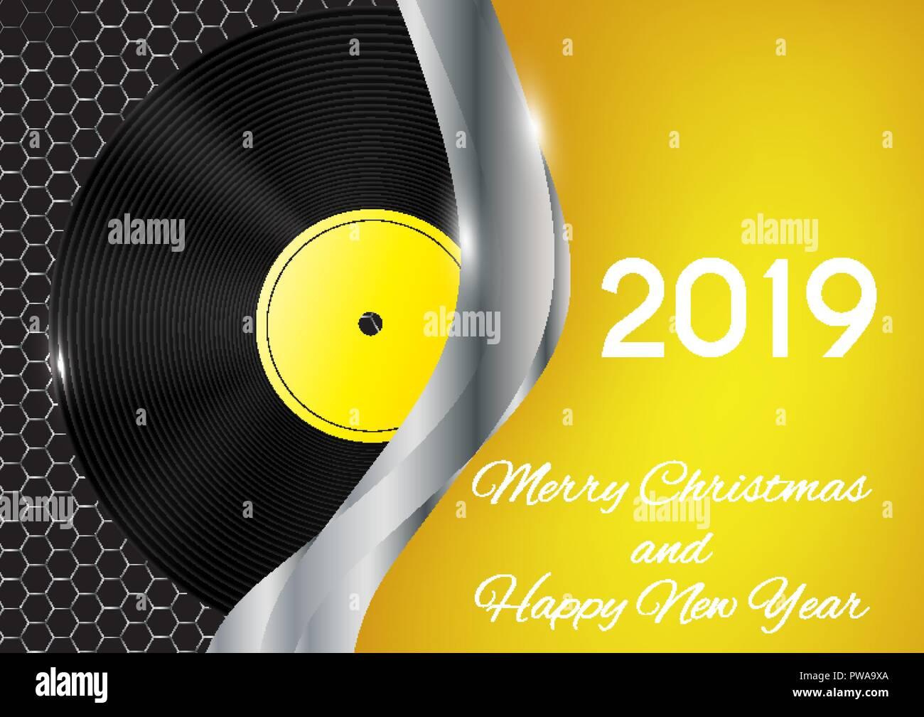 Weihnachten 2019 Musik.2019 Frohes Neues Jahr Und Frohe Weihnachten Auf Abstrakte Musik