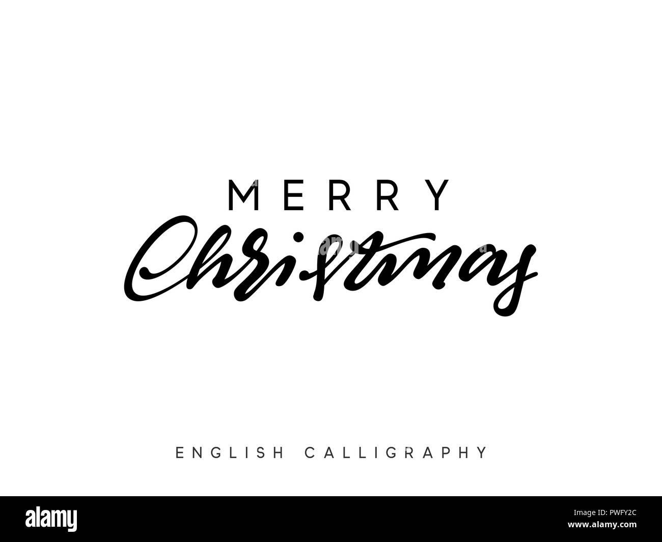 Text Frohe Weihnachten.Text Frohe Weihnachten Weihnachten Hand Gezeichnet