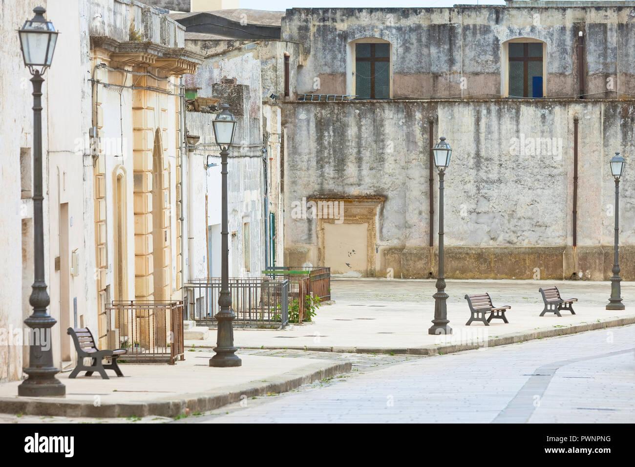 Specchia, Apulien, Italien - Besuch der historischen Altstadt von Specchia Stockfoto